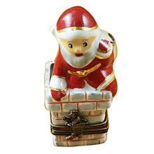 Load image into Gallery viewer, Santa in Chimney Limoges Box