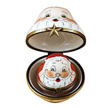 Load image into Gallery viewer, 3 Old World Stacking Santas Limoges Box