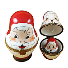 Load image into Gallery viewer, 4 Stacking Santas Limoges Box