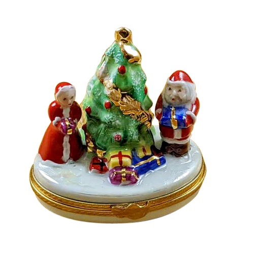 Mr. and Mrs. Claus by Tree Limoges Box