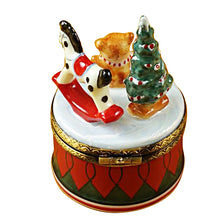 Load image into Gallery viewer, Christmas Drum with Toys Limoges Box
