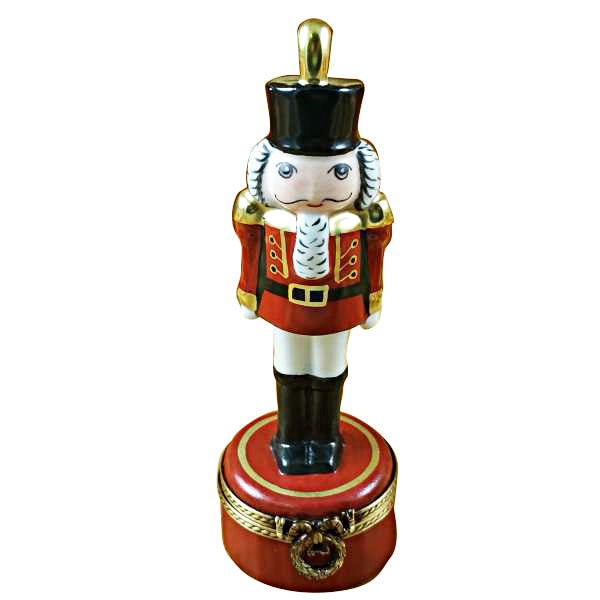 Nutcracker with Plume on Red Base Limoges Box
