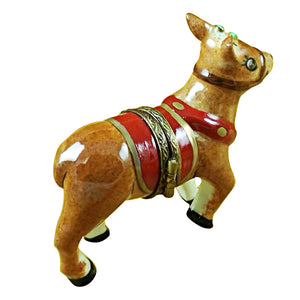 Red  Nose Rudolph Limoges Box