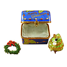 Load image into Gallery viewer, Christmas Trunk with Removable Tree & Wreath Limoges Box