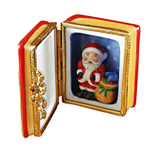 Load image into Gallery viewer, Santa Book with Removable Santa Limoges Box