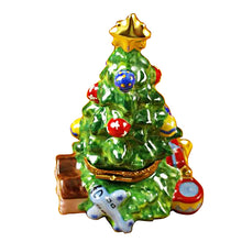 Load image into Gallery viewer, Christmas Tree with Teddy Bear Limoges Box