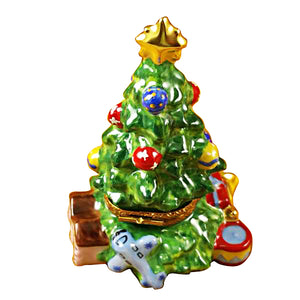 Christmas Tree with Teddy Bear Limoges Box