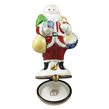 Load image into Gallery viewer, Santa with Tree and Gifts Limoges Box