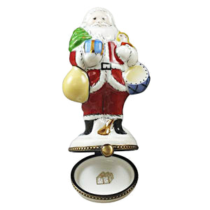 Santa with Tree and Gifts Limoges Box