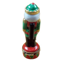 Load image into Gallery viewer, Nutcracker on Red & Green Drum Limoges Box
