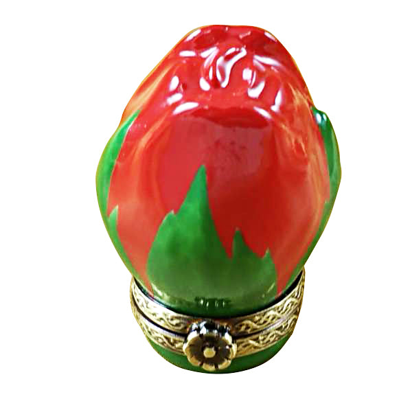 Mini Red Rose Bud Limoges Box