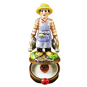 Gardener with Watering Can Limoges Box