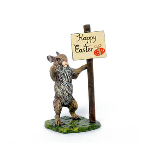 Rabbit Happy Easter Vienna Bronze Figurine