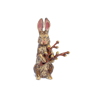 Rabbit With Catkins Vienna Bronze Figurine