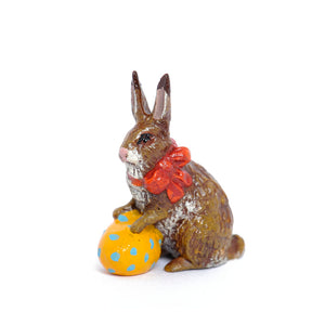 Bunny with Ribbon & Easter Egg Vienna Bronze Figurine