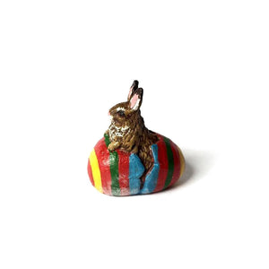 Rabbit In Eggshell Vienna Bronze Figurine
