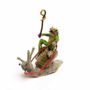 Frog On Snail Vienna Bronze Figurine