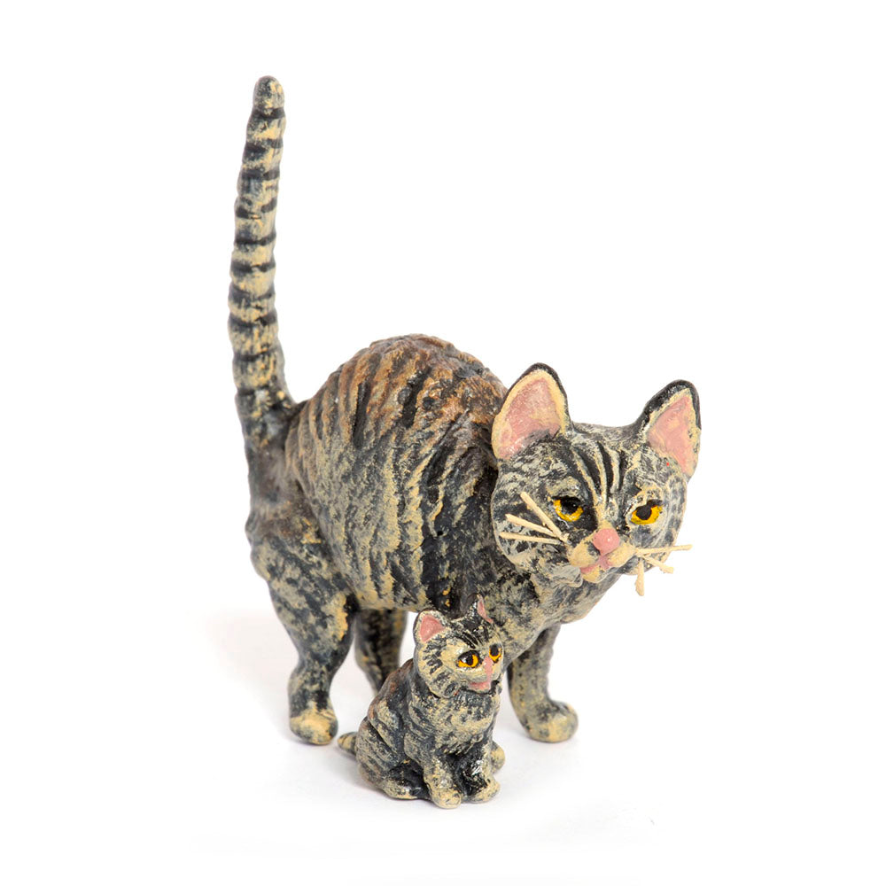Cat Mother &.Baby Vienna Bronze Figurine