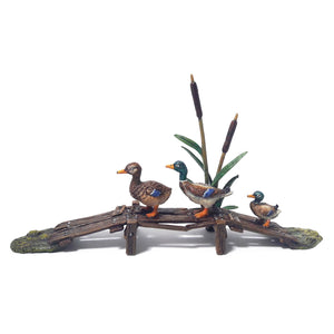 Ducks On Bridge Vienna Bronze Figurine