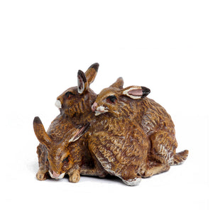 Heap Of Rabbits Vienna Bronze Figurine