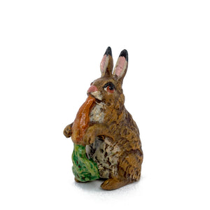 Rabbit Eats Carrot Vienna Bronze Figurine
