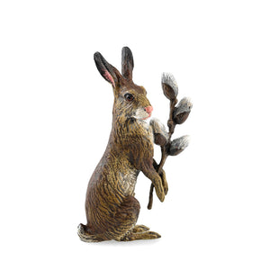 Rabbit With Catkin Vienna Bronze Figurine