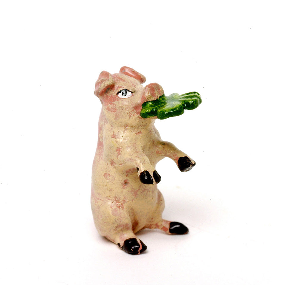Pig With Clover-Leaf Vienna Bronze Figurine