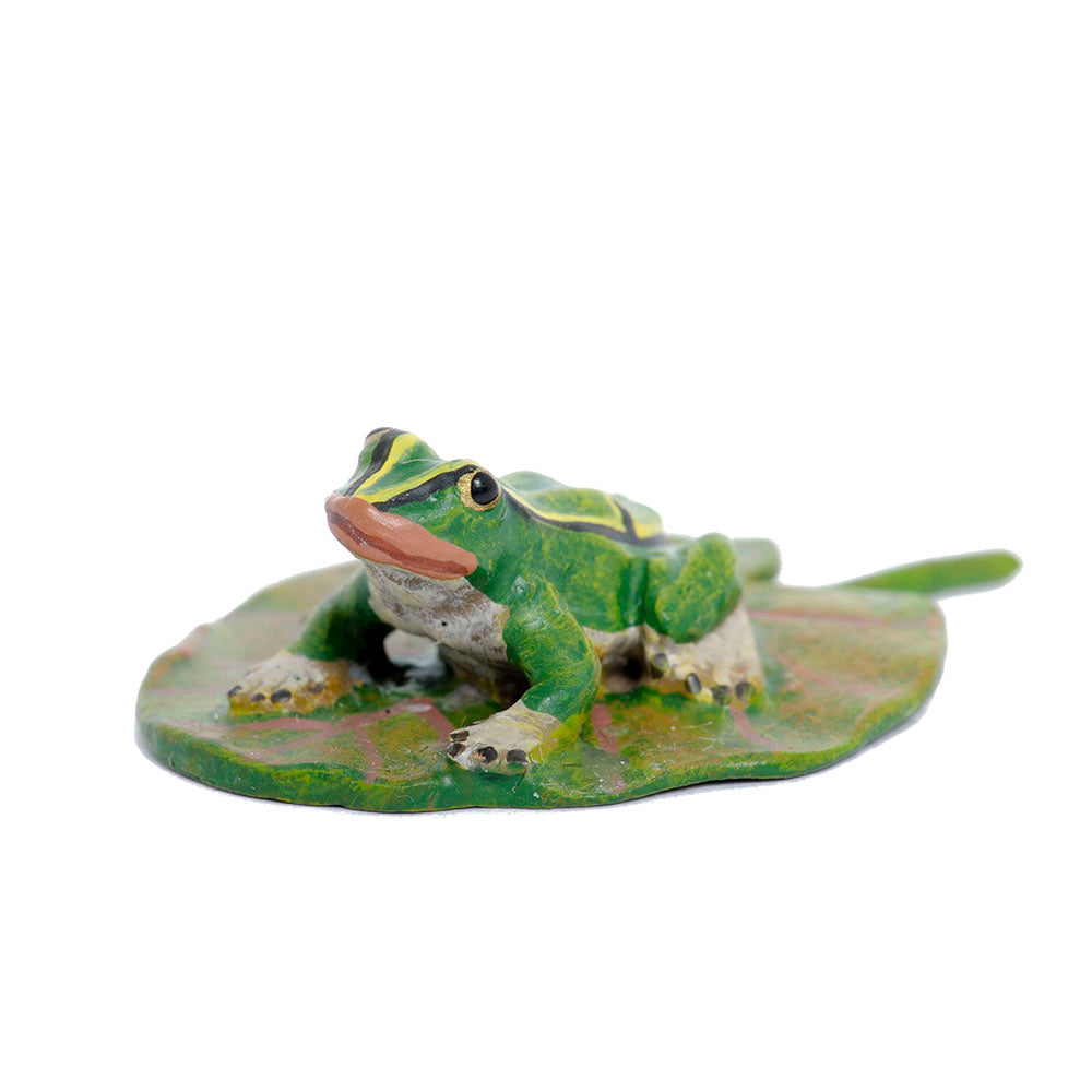 Frog On A Leaf Vienna Bronze Figurine