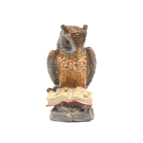 Owl On Rock Vienna Bronze Figurine