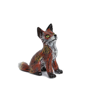 Fox Baby Head Up Vienna Bronze Figurine