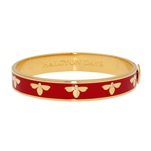 "Halcyon Days ""Bee Red & Gold"" Bangle"