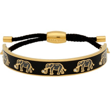 "Load image into Gallery viewer, Halcyon Days ""Elephant Black & Gold Friendship"" Bangle"