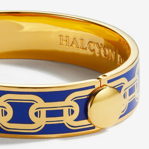 "Halcyon Days ""Chain Deep Cobalt & Gold"" Bangle"