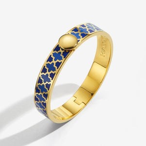 "Halcyon Days ""Agama Deep Cobalt, Bluebell & Gold"" Bangle"