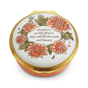 "Halcyon Days ""Daughters Are Like Flowers"" Enamel Box"