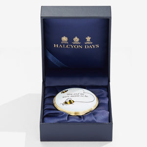 "Halcyon Days ""Bee"" Enamel Box"