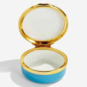 "Halcyon Days ""Baby's First Tooth Blue"" Enamel Box"
