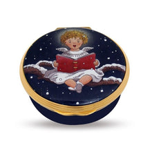 "Load image into Gallery viewer, Halcyon Days ""Cherub Singing"" Enamel Box"