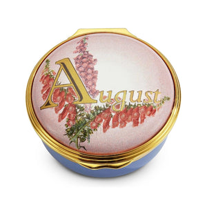"Halcyon Days ""August"" Enamel Box"