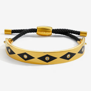 "Halcyon Days ""Sparkle Black & Gold Friendship"" Bangle"