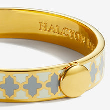 "Load image into Gallery viewer, Halcyon Days ""Agama Cream, Grey & Gold"" Bangle"