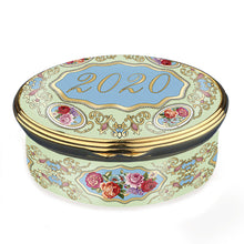 "Load image into Gallery viewer, Halcyon Days ""2020 Annual - A Year to Remember"" Enamel Box"