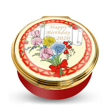 "Load image into Gallery viewer, Halcyon Days ""2020 Happy Birthday"" Enamel Box"