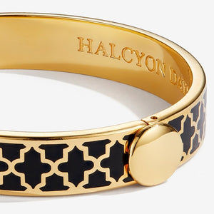 "Halcyon Days ""Agama Black & Gold"" Bangle"