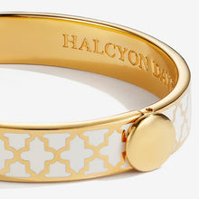 "Load image into Gallery viewer, Halcyon Days ""Agama Cream & Gold"" Bangle"