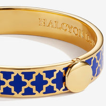 "Load image into Gallery viewer, Halcyon Days ""Agama Deep Cobalt & Gold"" Bangle"