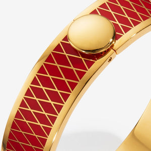 "Halcyon Days ""Parterre Red & Gold"" Bangle"