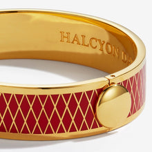 "Load image into Gallery viewer, Halcyon Days ""Parterre Red & Gold"" Bangle"