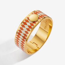 "Load image into Gallery viewer, Halcyon Days ""Parterre Orange Cream & Gold"" Bangle"