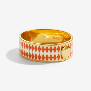 "Halcyon Days ""Parterre Orange Cream & Gold"" Bangle"